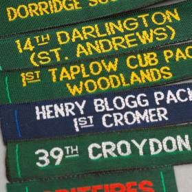 Geweven labels voor Scouts...